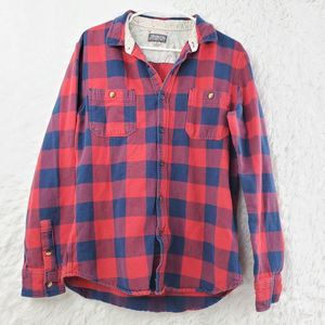 Modern Amusement Youth Plaid Button Front Shirt